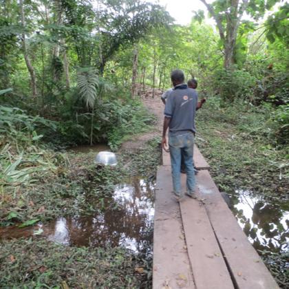 Musa Akura No.II - Die alte Wasserquelle, ein mit Chemikalien verseuchter Bach.