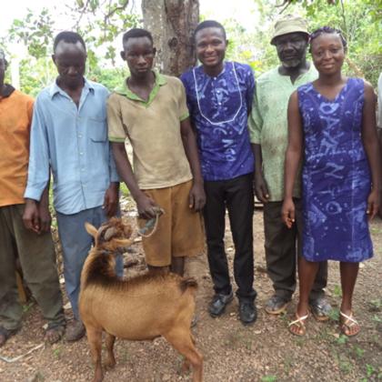 Musa Akura No.II - Für unsere Team gab's zum Dank eine Ziege