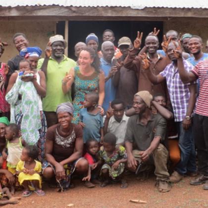 Musa Akura No.II - Nach einem Plannungstreffen mit den DorfbewohnerInnen