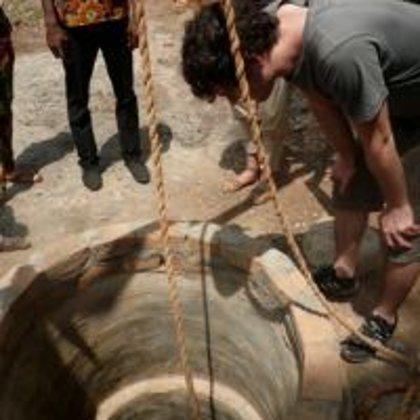 Brunnenbau im Gang